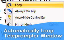 Automatically Loop the Telepromtper