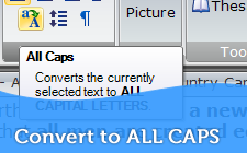 Convert to ALL CAPS